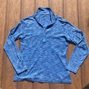 Columbia Women's 1/4 Zip Blue Heathered Top XL